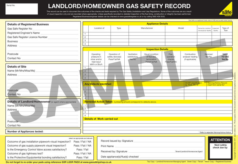 Gas Safety Certificate Glasgow